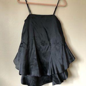 Keepsake Babydoll Silk Dress Black
